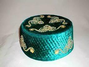Вышивка бисером тюбетейки